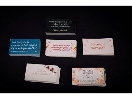 Sada kartičiek (rôzne varianty)